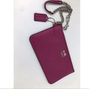Coach Bags - Brand new with tags magenta Coach wristlet